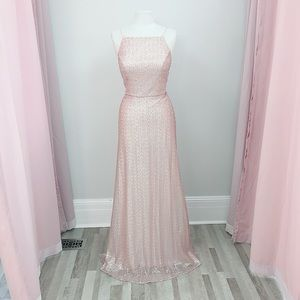 MoriLee bridesmaid gown 21564 rose gold size 12